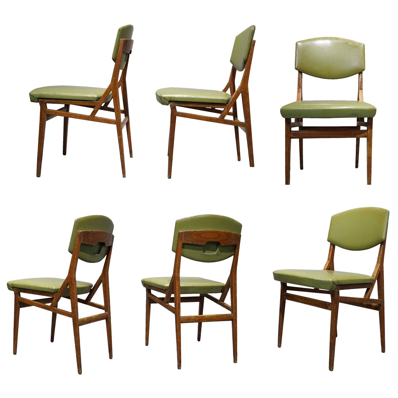 Six Chairs By Augusto Romano Cassina Italy Circa 1955 Dining