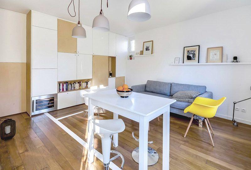 Apartamento de 30 metros quadrados com design inspirador