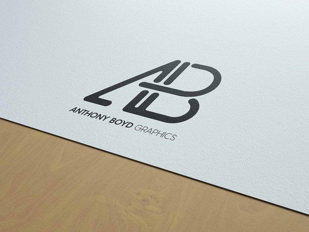 Paper logo image by gagan preet on Logo's Logo mockup