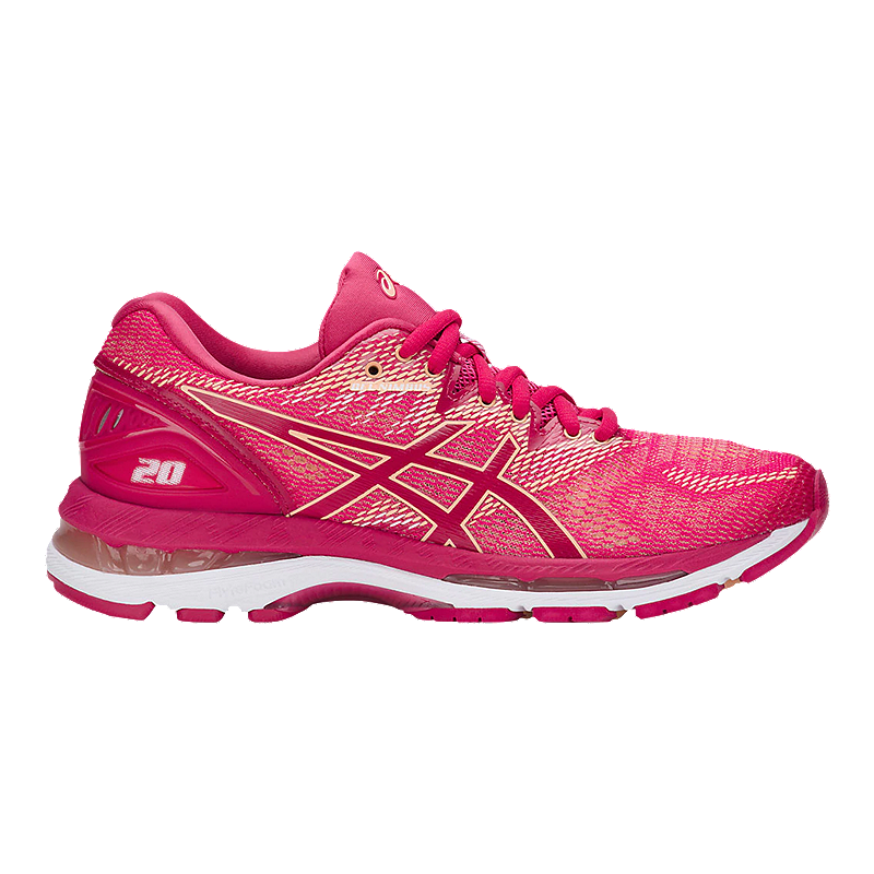 ASICS Women's GEL Nimbus 20 Running Shoes Bright Rose