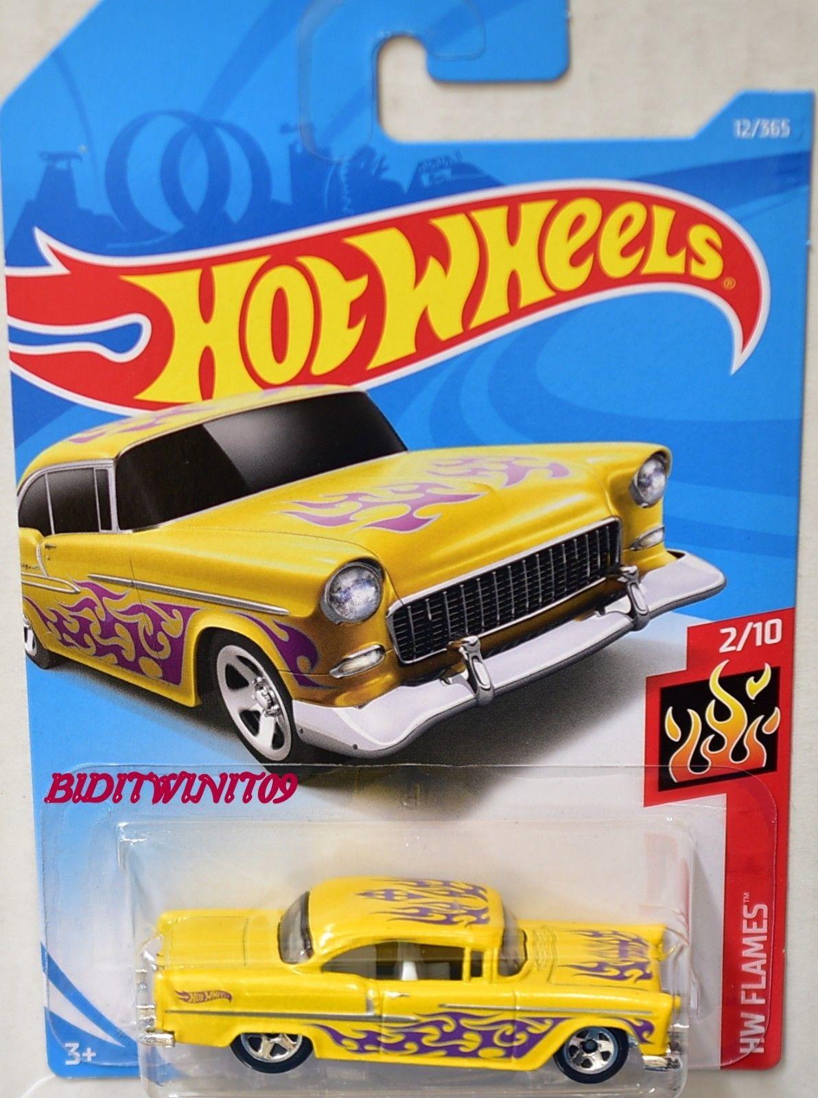 2 5 Hot Wheels 2018 Hw Flames 55 Chevy Yellow Ebay Collectibles Hot Wheels Hot Wheels Toys Mattel Hot Wheels [ 1600 x 1192 Pixel ]
