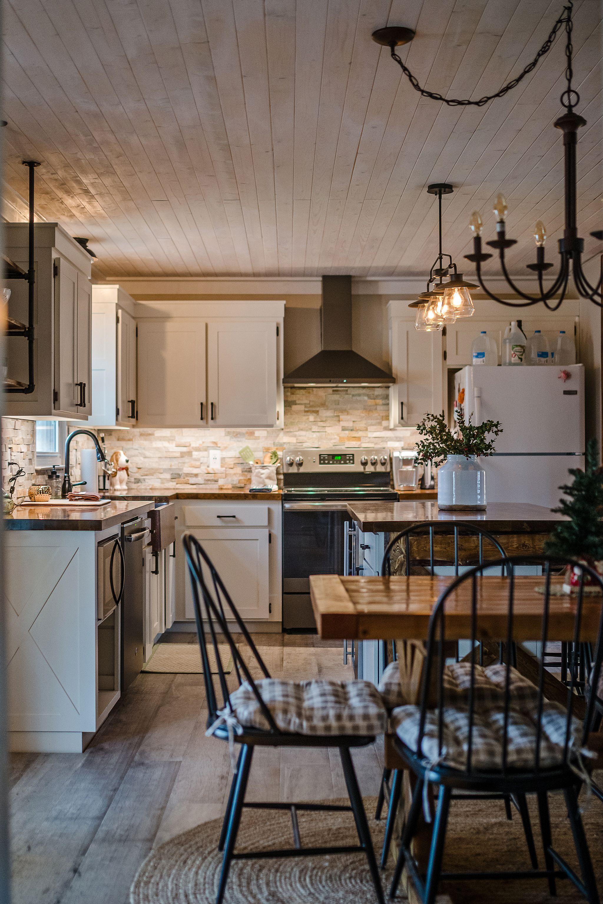 Best Modern Farmhouse Kitchen Cabinet Color Benjamin Moore 640 x 480