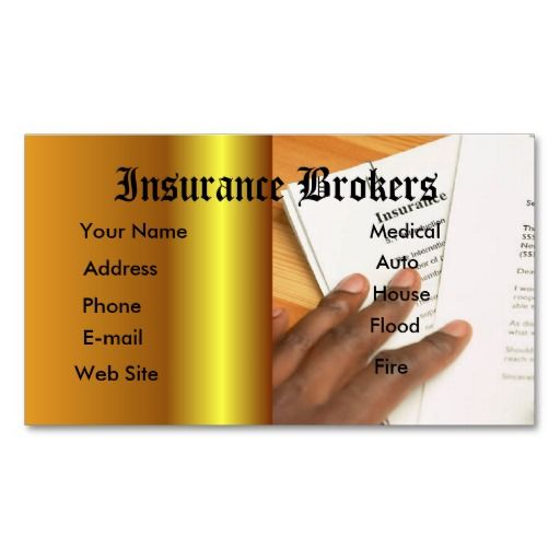 Insurance Agent Business Card Zazzle Com Insurance Agent