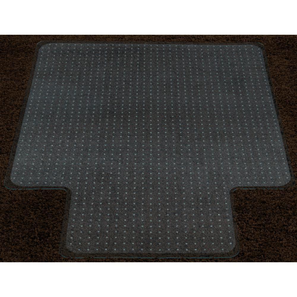 Super Grip Clear 36 In X 48 In With Lip Vinyl Carpet Chair Mat