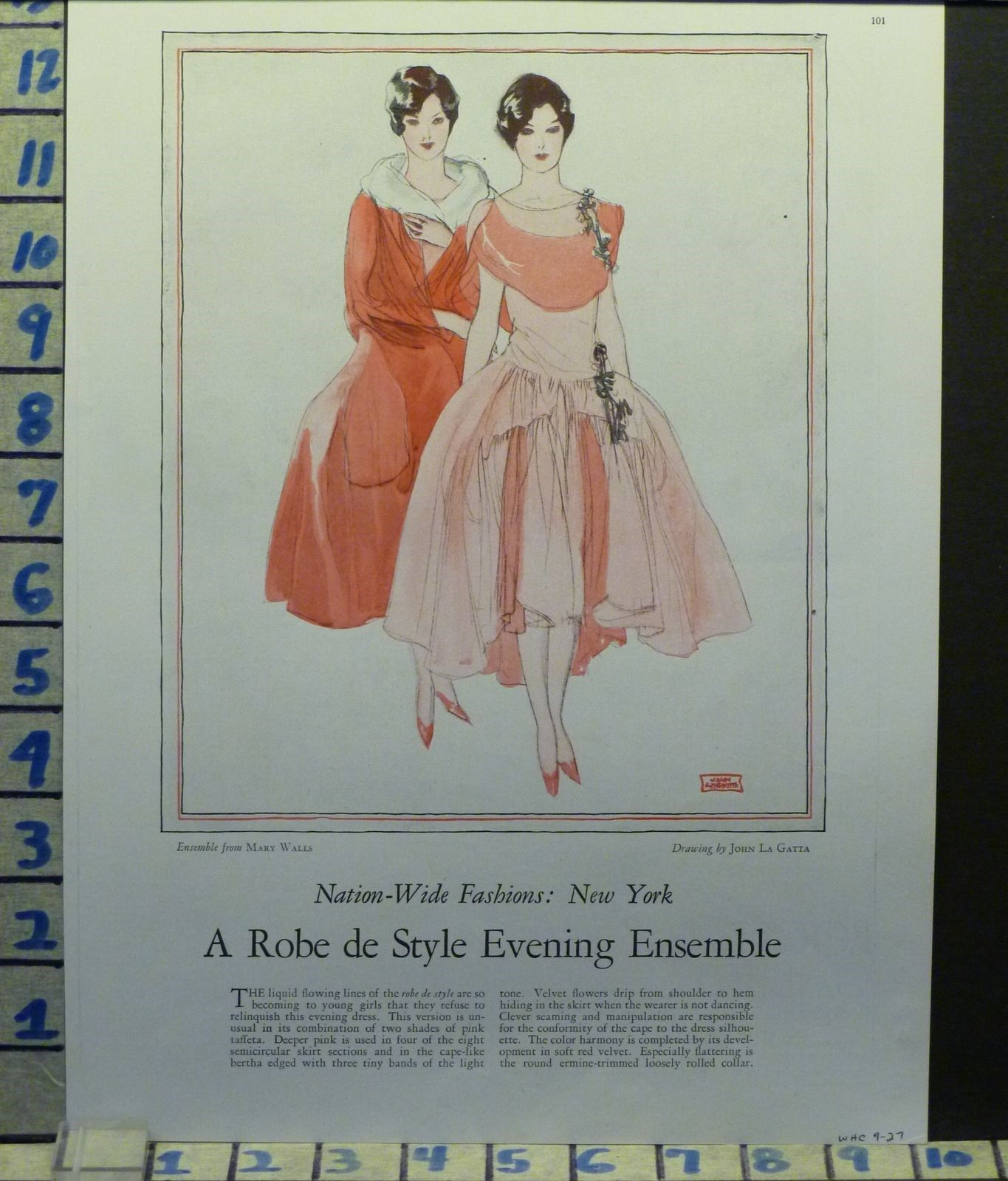 1920s fashion ad - Mary Walls design