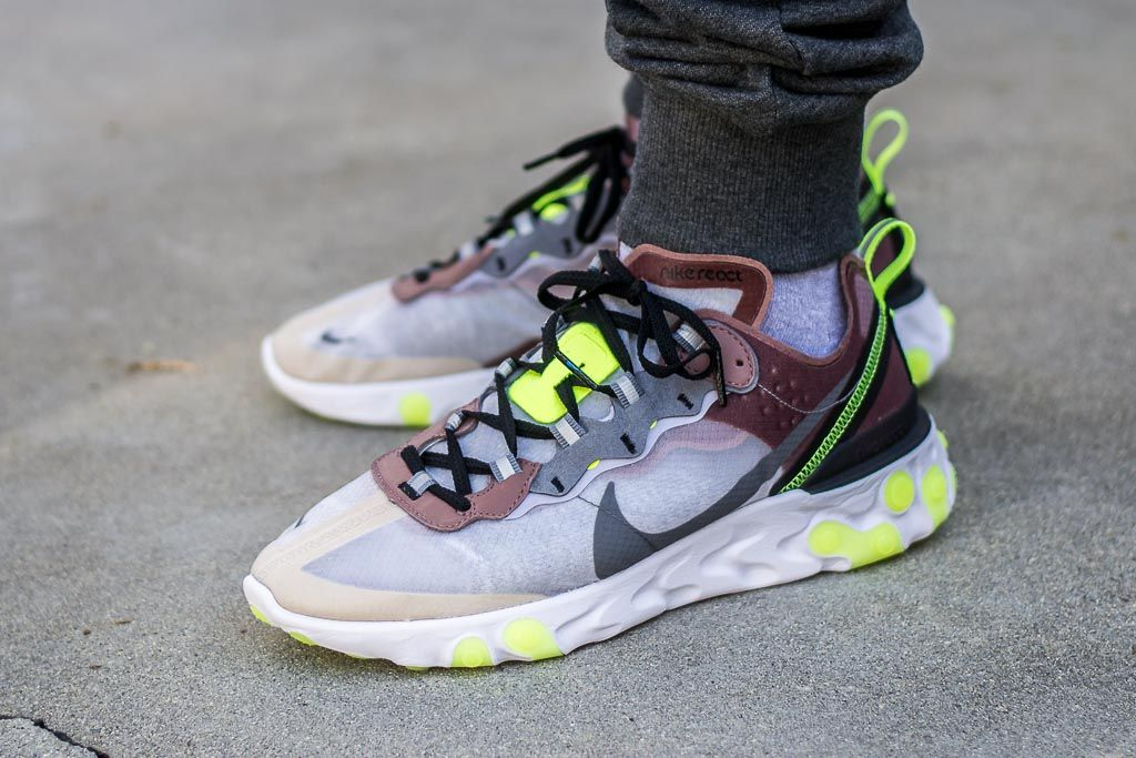63927bc1eb2b See how the Nike React Element 87 Desert Sand looks on feet in this video  review before you cop! Find out where to buy these React Element 87s online!