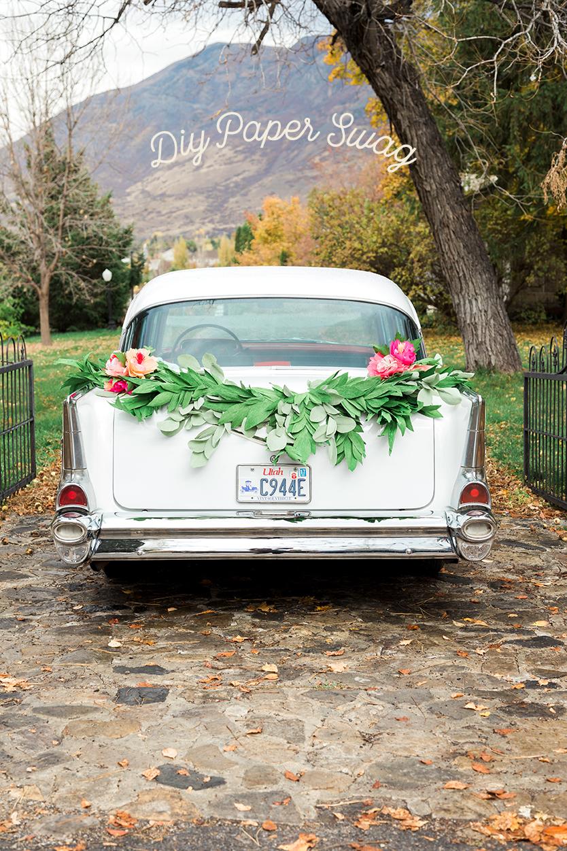 DIY get away car paper garland swag Diy wedding garland