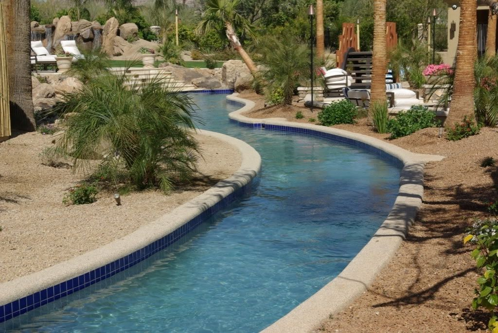 32 Fascinating Lazy River Pool Ideas That Should You Make In Home Backyard Thelatestdailynews Lazy River Pool Pool Water Features Pool