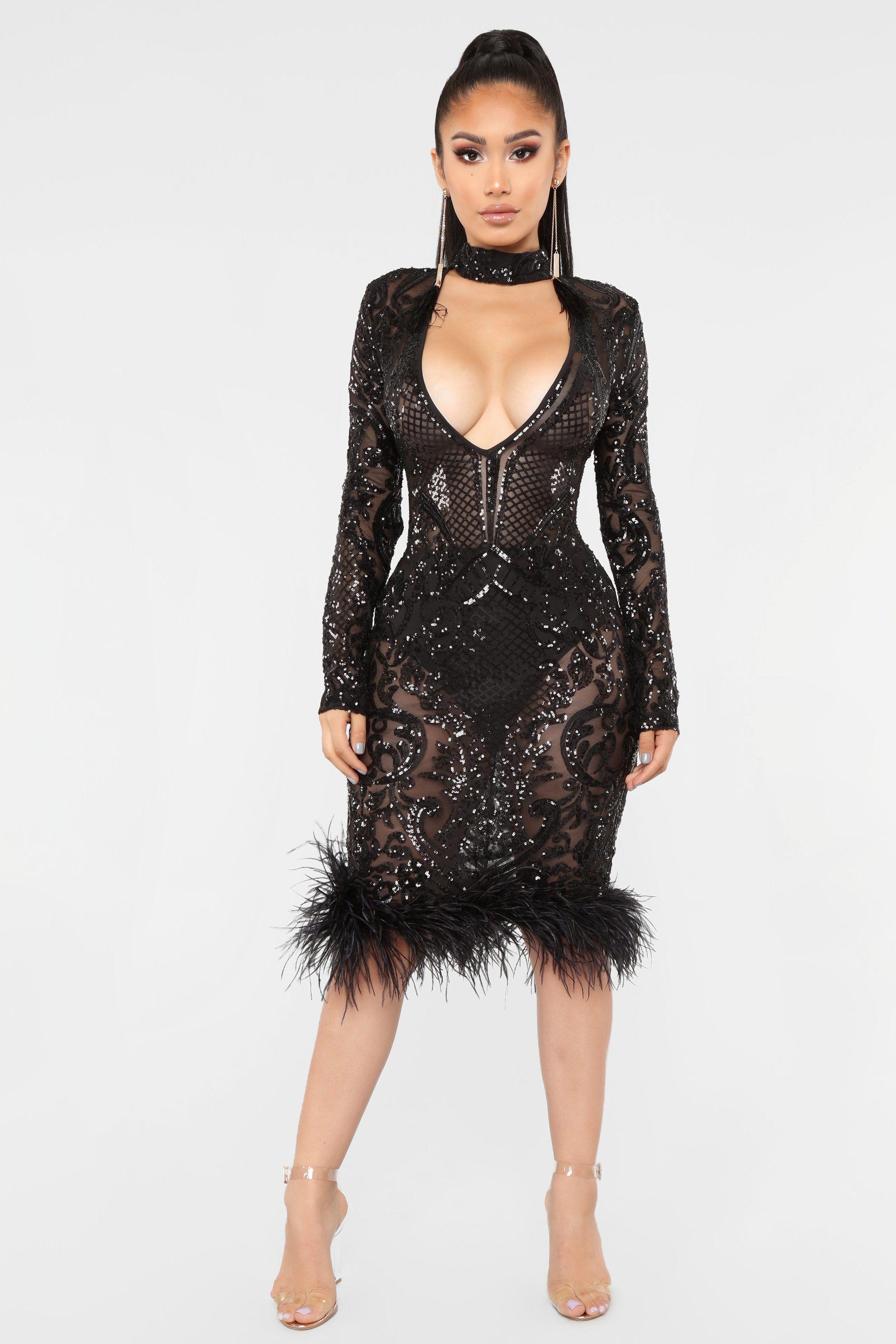 Tonight's The Night Dress Black Night dress, Fashion