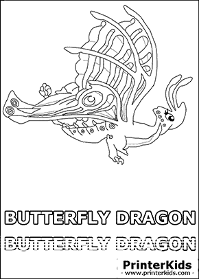 dragonvale butterfly dragon adult coloring page