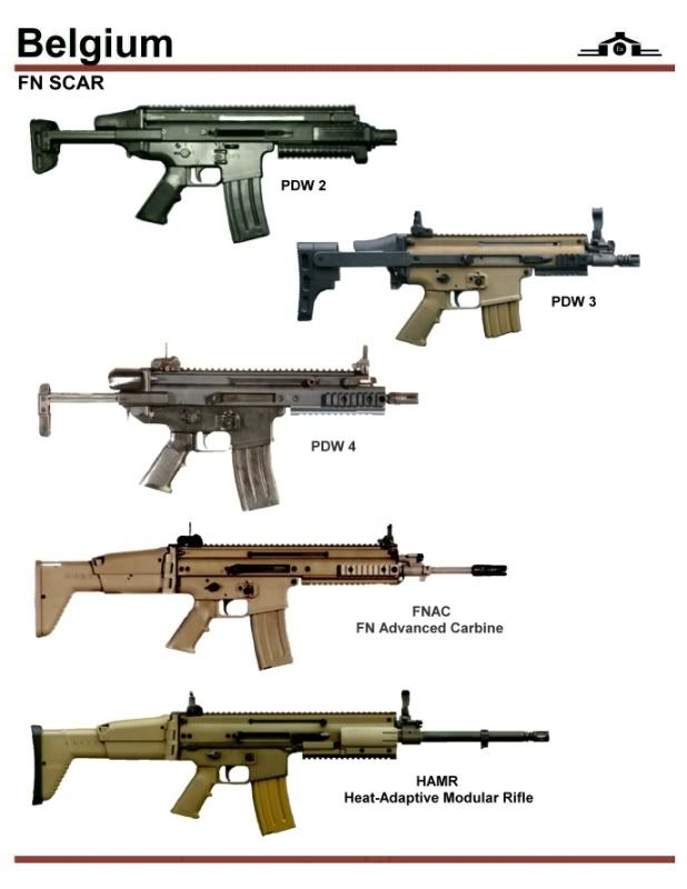 The HAMR [Heat Adapted Modular Rifle] was FN's entry into the U S