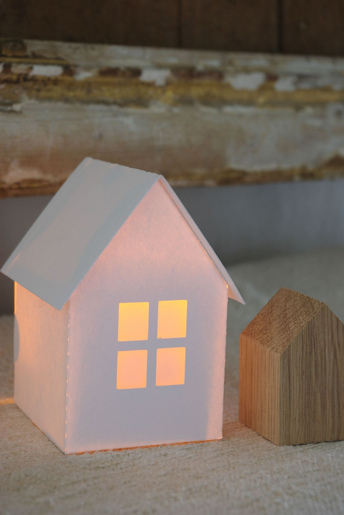 Little paper house with flameless tealight definitely going to little paper house with flameless tealight definitely going to make these and use jeuxipadfo Image collections
