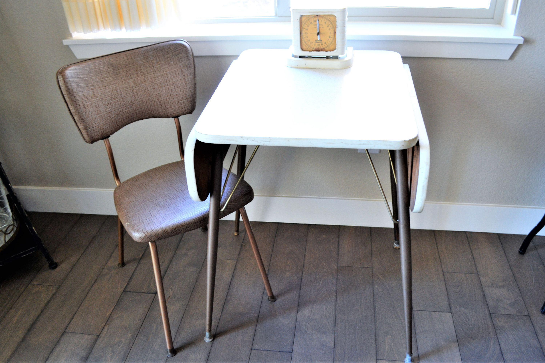 Retro Formica Drop Leaf Table Mid Century Modern Table Vintage