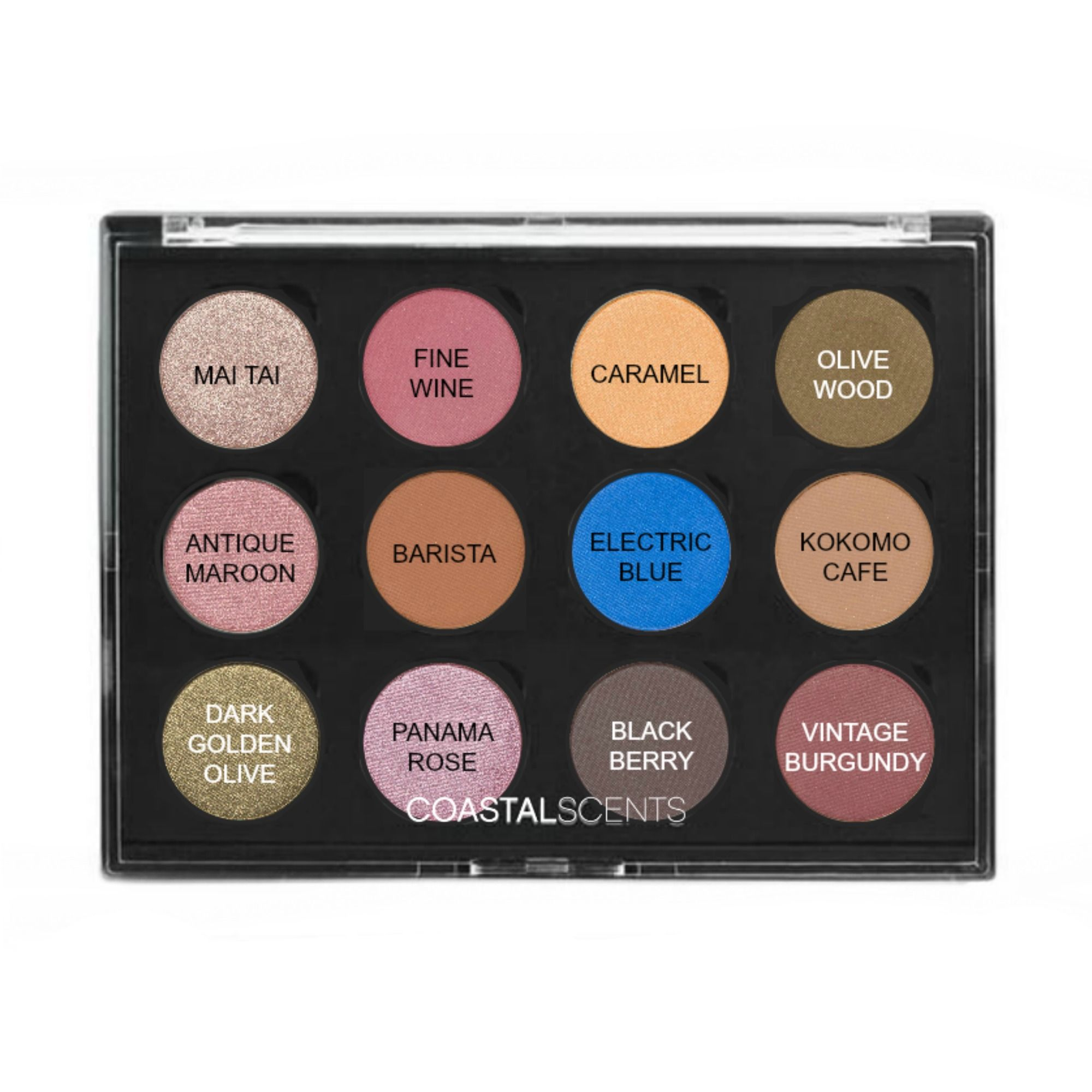 Coastal Scents Custom Palettes are available for 1, 4, 12
