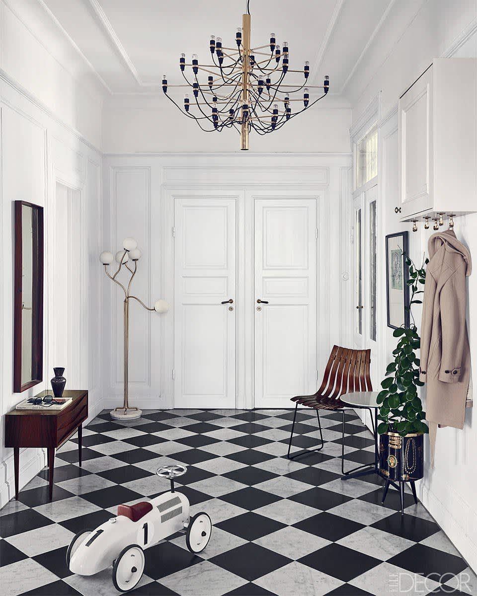 checkered tile floor Google Search Black and white