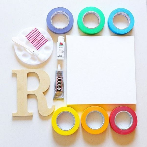 SNEAK PEEK!  Get crafty with me as I show you how to create a fabulous wall art piece from masking tape! Check it out here: http://bit.ly/2a91Rhz (clickable link in my profile) #DIY #orientaltrading #SoireeEventDesignforOTC #Rainbows