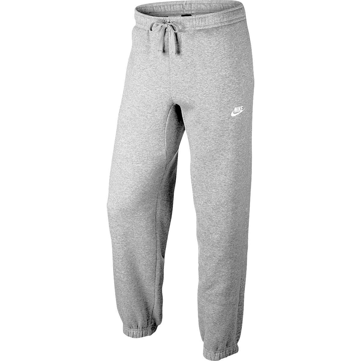 Nike Club Fleece Cuffed Men's Bottom Pants GreyWhite 804406