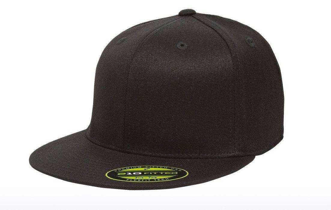 3425c1a8010 Premium Original Blank Flexfit Flatbill Fitted 210 Hat (XXL