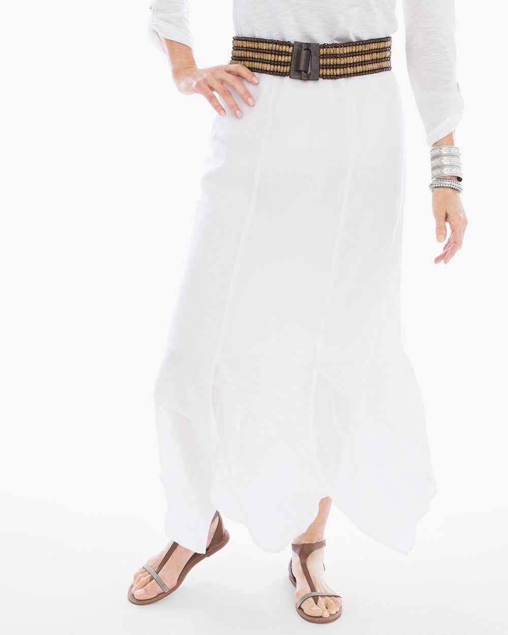 9a2daf2959 Chico's Women's Handkerchief Hem Maxi Skirt