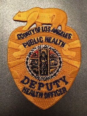 Los Angeles County California Public Health Deputy Health Officer Patch Police Los Angeles Police Police Patches