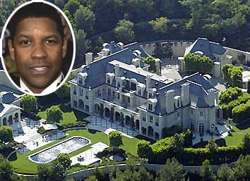 House Of Denzel Washington Luxury Style Mansions Celebrity