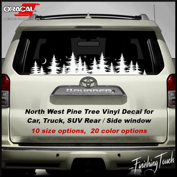 Tree Decal Forest Graphic Vinyl Sticker Rear Windshield