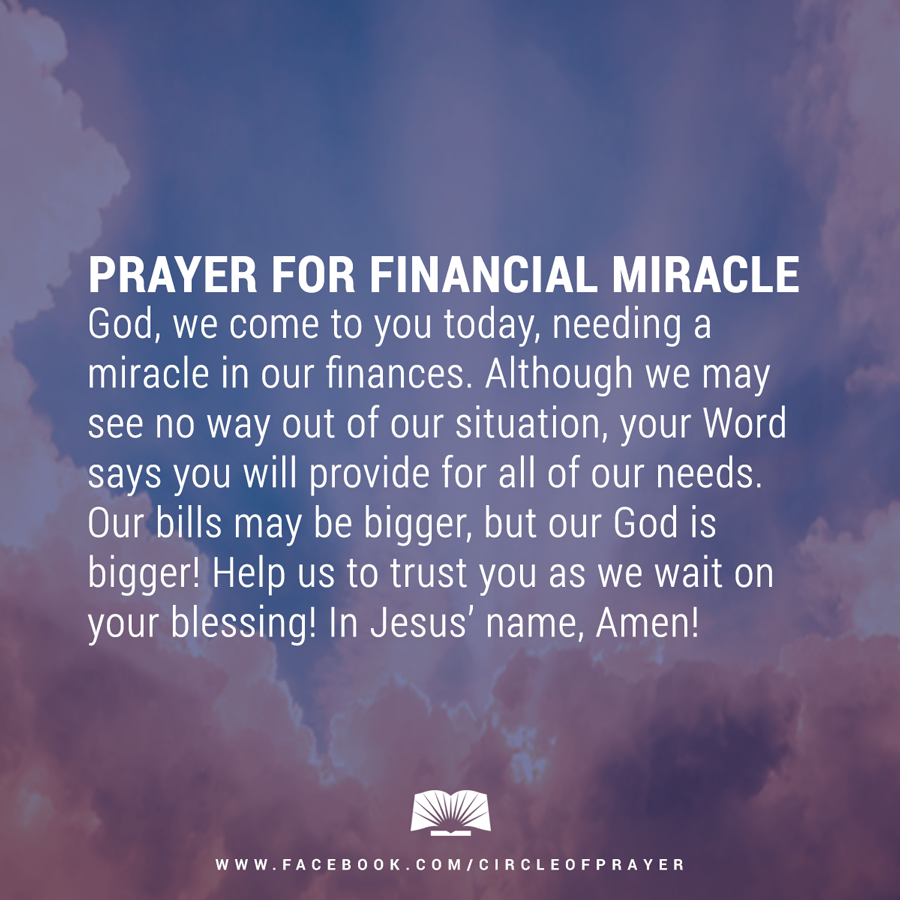 Prayer for Financial Miracle | Prayers | Miracle prayer