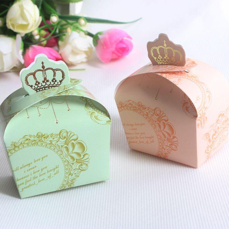 2014 el envío gratuito 100 unids rosa y verde Crown mapa estilo caramelo de la boda caja, cajas de regalo, caja del favor de partido, nacimiento cumpleaños dulces caja en Artículos de Fiesta de Casa y Jardín en AliExpress.com | Alibaba Group