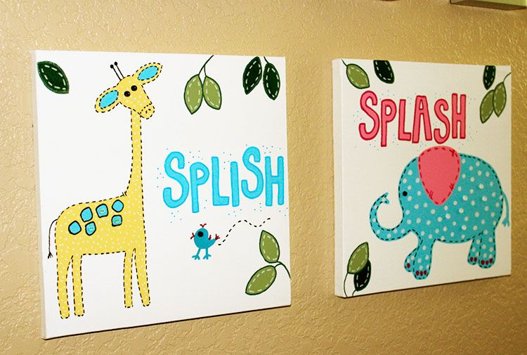 kids bathroom wall art | Church kids rooms | Pinterest | Bathroom ...