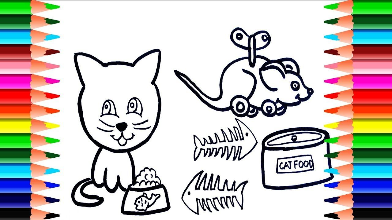 Animal Coloring Pages How To Draw Cats Cat Food Draw And Paint