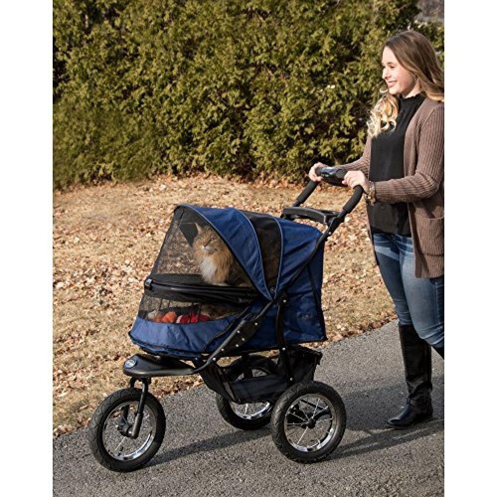 Pet Gear NoZip NV Pet Stroller for Cats/Dogs, Zipperless
