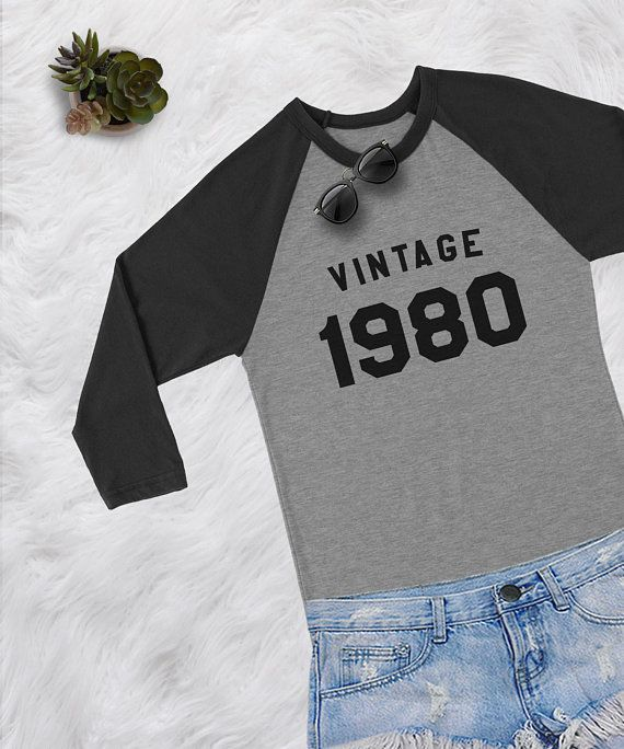 b31ab942 38th Birthday vintage 1980 baseball tshirt womens girls teens grunge tumblr  blogger hipster punk instagram Merch gifts