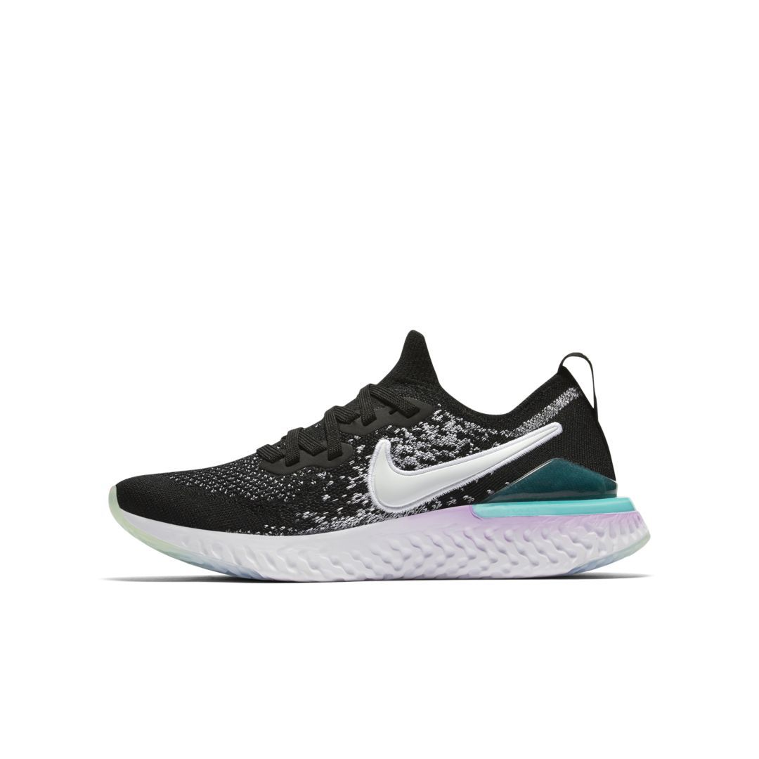 the latest 1569a e07a0 Nike Epic React Flyknit 2 Big Kids  Running Shoe Size 6.5Y (Black)
