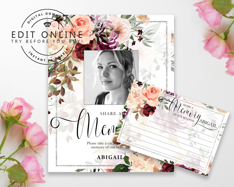 Printable Funeral Program Booklet Template with Background Pink carnation Funeral Program Booklet for Women