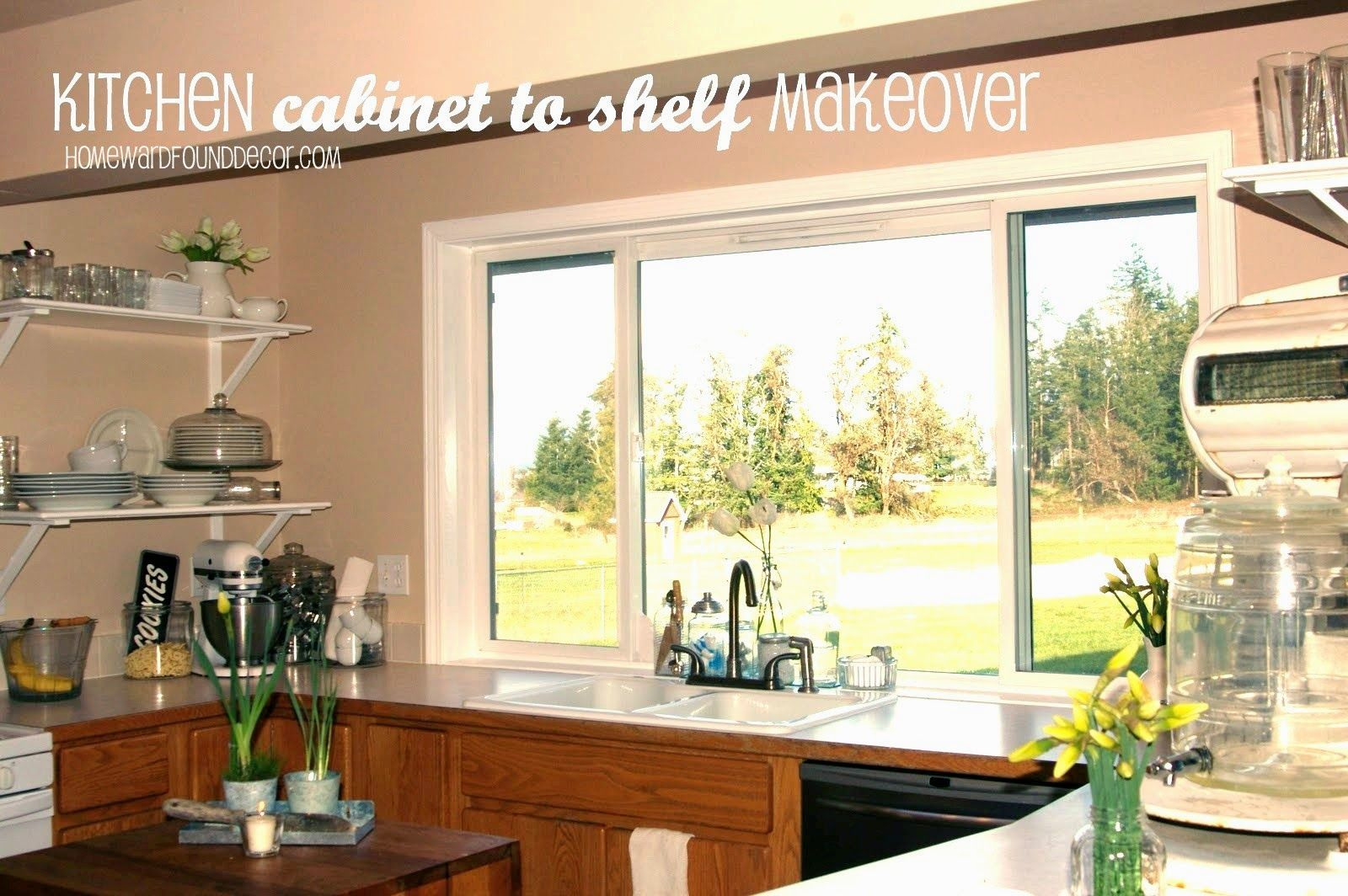 DIY Kitchen to Shelf Makeover (With images
