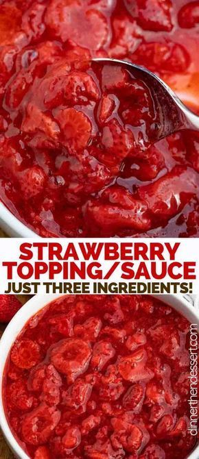 Strawberry Topping is a sweet and indulgent strawberry sauce made from strawberries, sugar, and vanilla, ready in just 20 minutes! Topping is a sweet and indulgent strawberry sauce made from strawberries, sugar, and vanilla, ready in just 20 minutes!