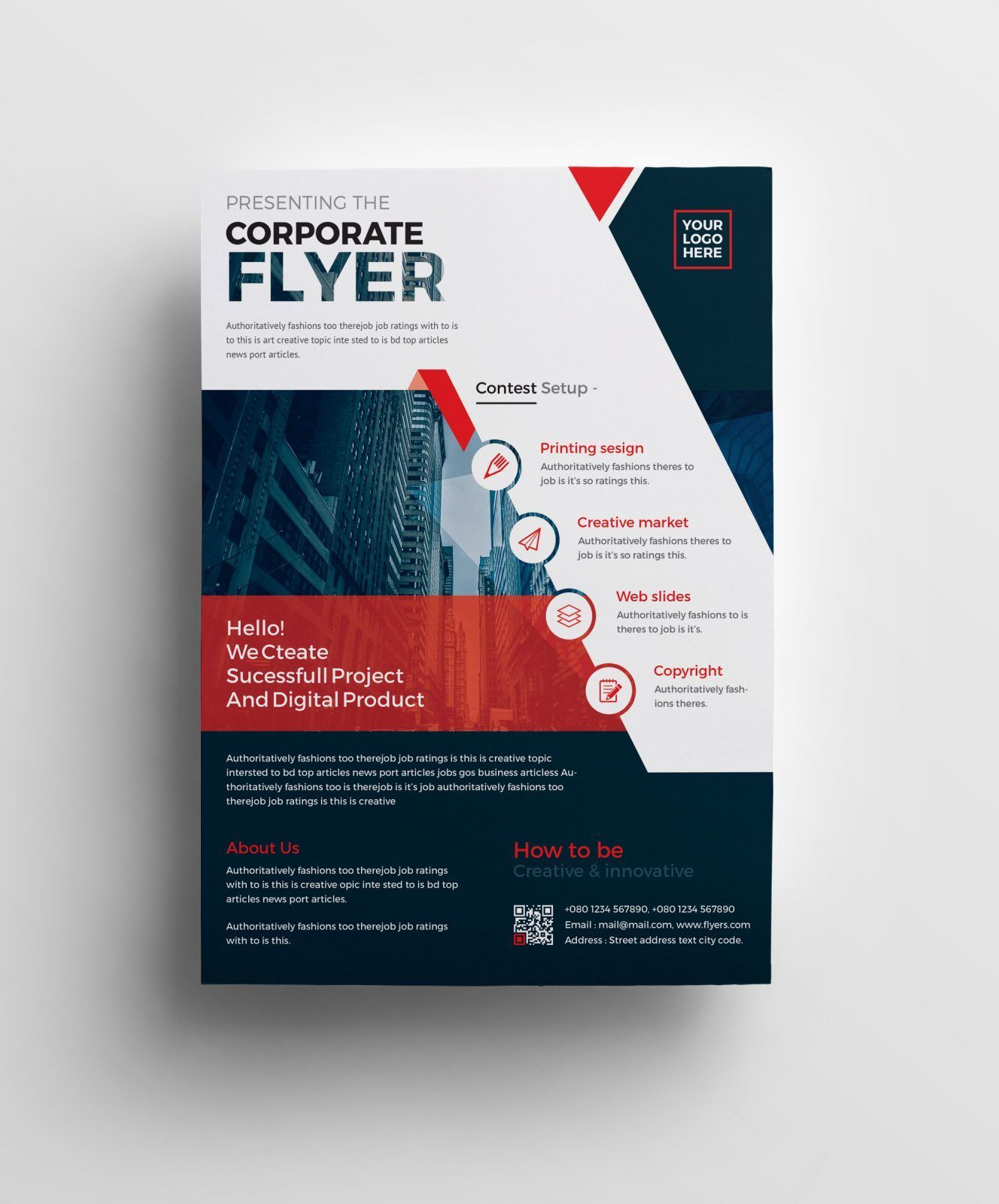 Plutus Professional Corporate Flyer Template 001008 Really Cool