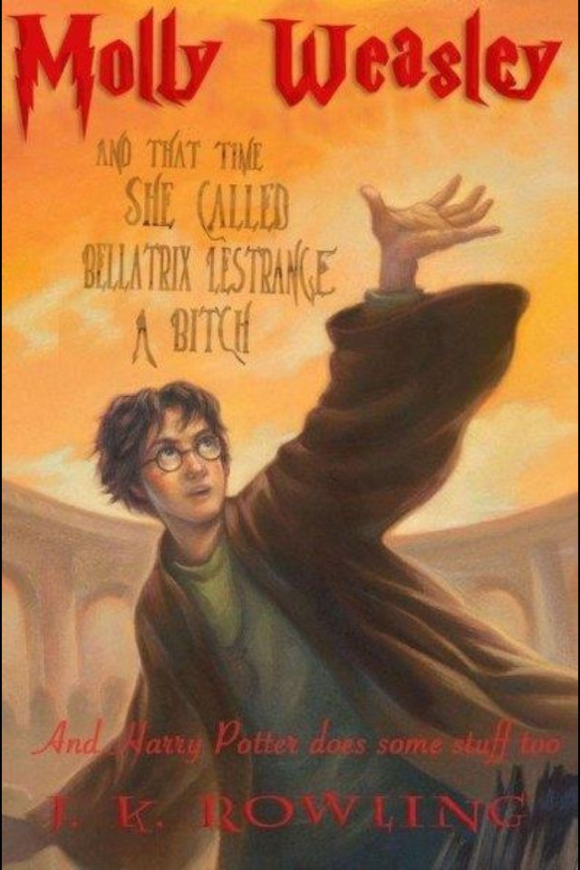 Deathly Hallows Alternate Title Accurate Hilarious Deathly Hallows Book Harry Potter Book Covers Harry Potter Books