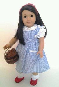 Amazon.com Halloween Dorothy Costume for American Girl Dolls Wicker Basket and Toto Included  sc 1 st  Pinterest & Amazon.com: Halloween Dorothy Costume for American Girl Dolls Wicke ...