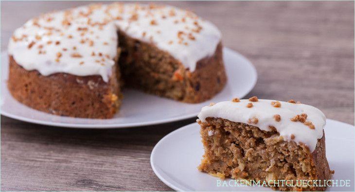 Saftiger Gesunder Karottenkuchen Backen Macht Glucklich Rezept Karotten Kuchen Karottenkuchen Kuchen Und Torten