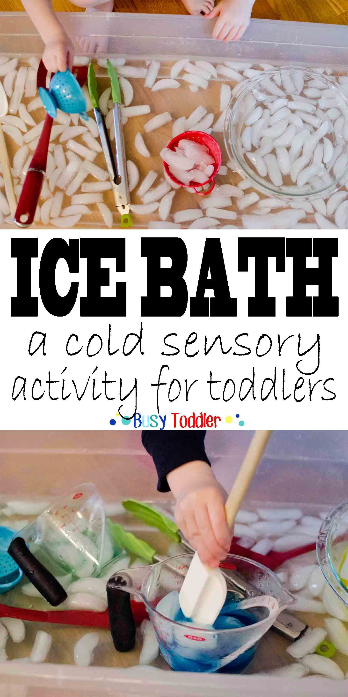 Ice Bath Fun Sensory Activity | Sensory activities, Activities and ...
