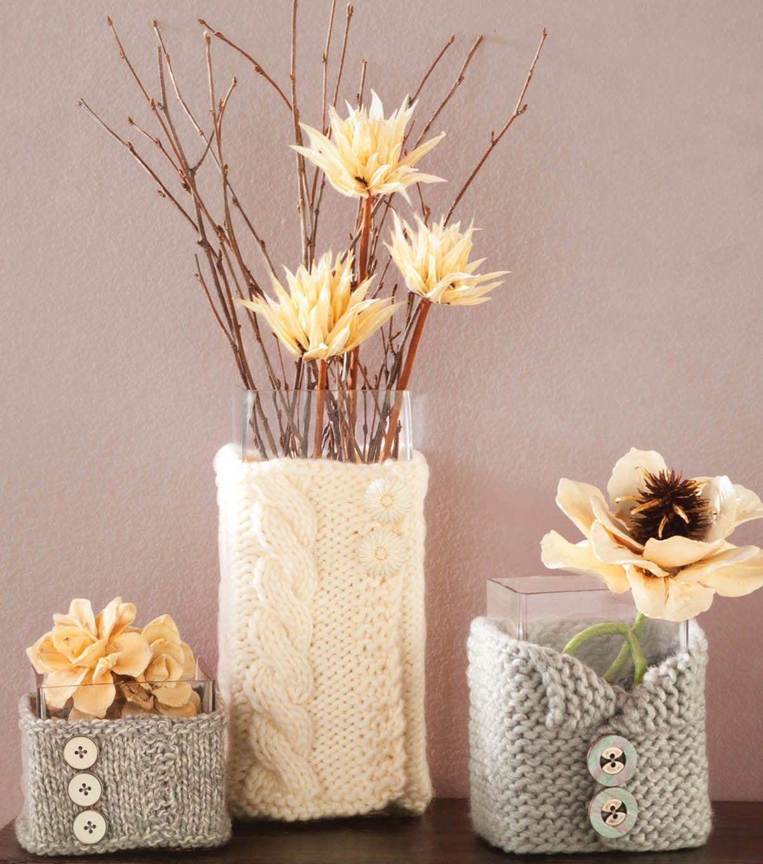 tricoter un pourtour de vase bougeoir