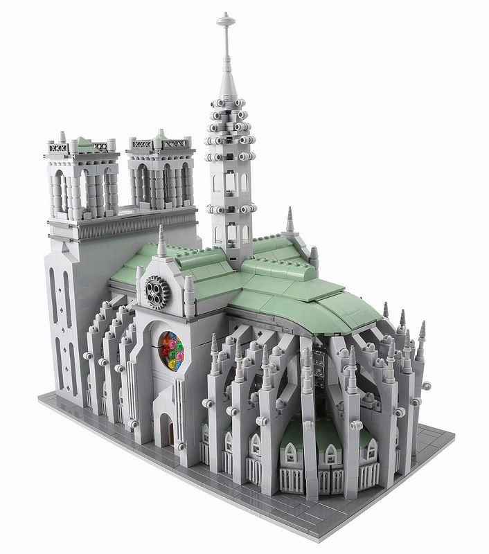 Notre Dame Cathedral Lego Architecture Creations Pinterest