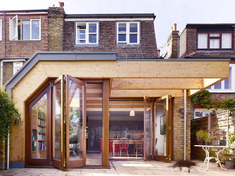 Timber House Extensions Tate Harmer Creates Timber Ribcage Around London Extension .