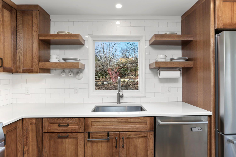 floating kitchen shelves yay in 2020 trendy kitchen on floating shelves kitchen id=15708