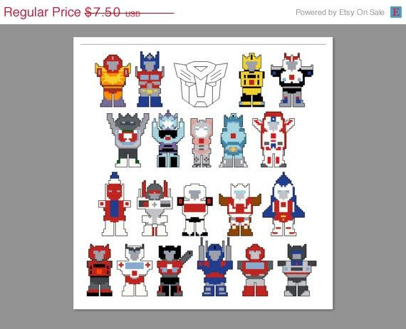 Transformers Autobots G1 Pixel People Character Hot Rod