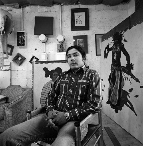 pogphotoarchives:  Native American painter and Vietnam veteran http://ift.tt/1MePlun