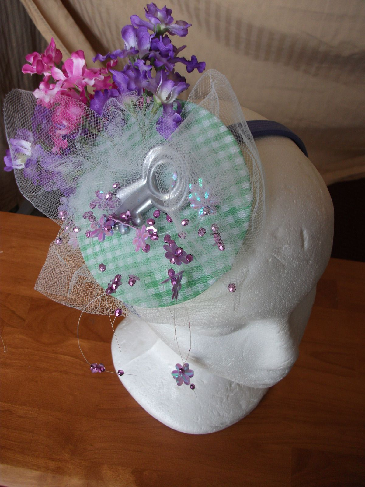 Spring Tea Party Headpiece #howto #tutorial