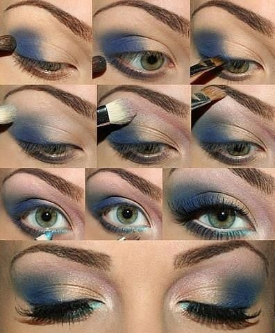 The right way to wear blue eye shadow