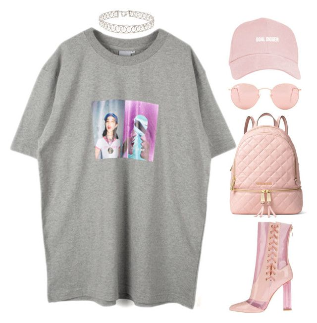 """""""taking my time"""" by mikaylaperrine ❤ liked on Polyvore featuring Ray-Ban and MICHAEL Michael Kors"""